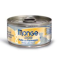 MONGE 狗罐頭-鮮味雞肉系列-雞肉芝士口味 95G